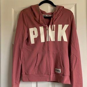 Gently worn PINK zip up hoodie